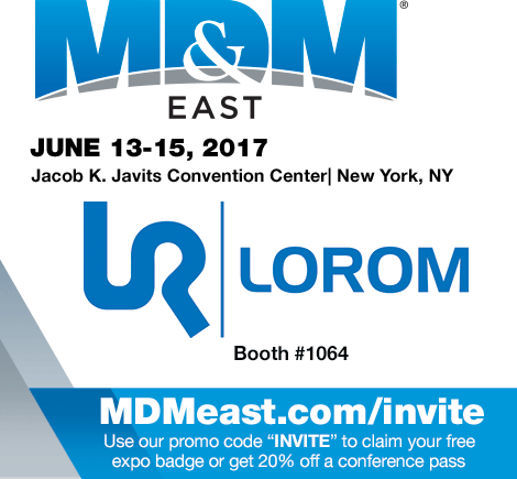 Come and meet the team at MD&M East