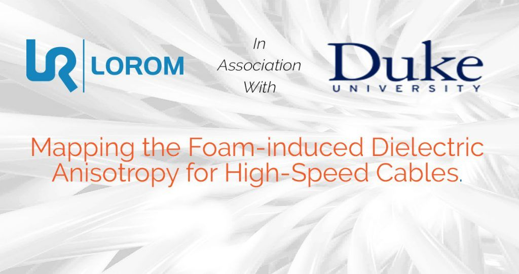 Mapping the Foam-induced Dielectric Anisotropy for High-Speed Cables